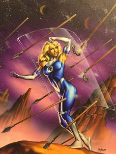 Invisible Woman by Nelson DeCastro ('95 Marvel Masterpiece)