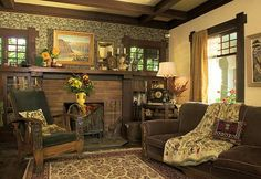Craftman style fireplace