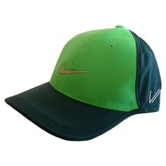 NIKE Golf UltraLight Tour Cap VAPOR RZN Color  Lightt Green   Emerald  Adjustable 2fc053e8ea8f