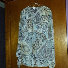 Blouse Long Sleeve Blouse excellent condition. Hand Wash Tops Blouses