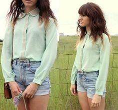 mint collared shirt!