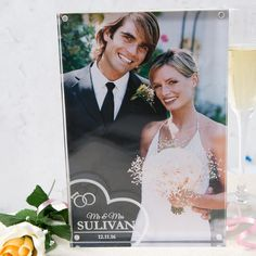 Personalised Acrylic Photo Keepsake Wedding