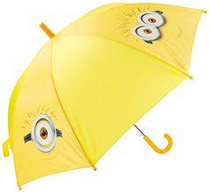 Minions - Paraguas de 48 cm, color amarillo (United Labels 811793) - http://comprarparaguas.com/baratos/minions/minions-paraguas-de-48-cm-color-amarillo-united-labels-811793/