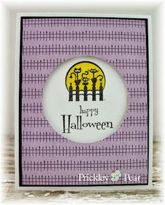 #pprstamps The girls have been busy behind the scenes getting samples together. Stamps and Dies used: Midnight Choir Sm - EE0163; Hope Your Halloween - GG0173 http://www.prickleypear.com
