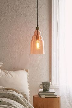 Ezra Narrow Blown Glass Pendant Light - Urban Outfitters