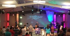 Sunday 10am Family Service at Coastside Church. Photo taken on Australia Day. We put on our National Pride!