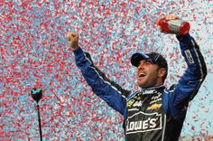 Jimmie Johnson pulled away on a restart with eight laps to go and won the NASCAR Spring Cup Series race at Martinsville Speedway on Sunday. It was his eighth career victory on the shortest track the series races. Sprint Race, Nascar Sprint Cup, Nascar Racing, Martinsville Speedway, Racing Baby, Race For Life, Nascar News, Jimmy Johnson, Fox Sports