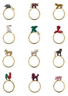 solange azagury partridge - chinese zodiac rings