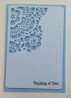 Card made using the new beautiful Sizzix Mixed Media #2 dies. CF