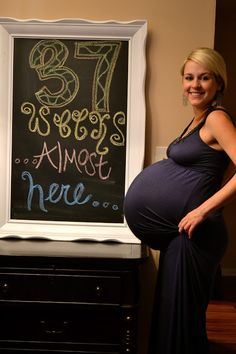 Oh holy jesus.  37 weeks pregnant with twins.  And she's skinny.