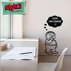 Adesivo Decorativo - Ralph - Simpsons - Quadro negro #adesivo #simpsons #parede #decor