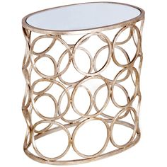 Interlude Home Brigit Circle Side Table - Silver