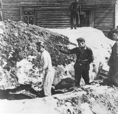 Digging his own grave with little to no clothing on, right before he is murdered Nazis. World History, World War Ii, Lest We Forget, Wwii, The Past, Germany, Military, Gun Control, Soldiers