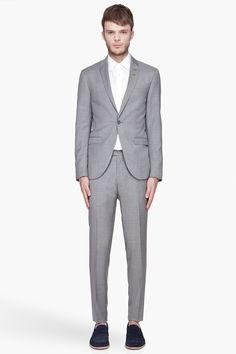 TIGER OF SWEDEN Grey pinstripe wool Evert suit