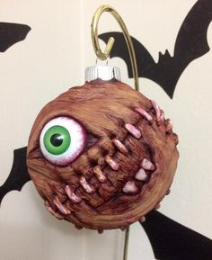 He sees you when you're sleeping; he knows when you're awake...  #zombiechristmas #horror #horrorart #horrorchristmas #handmade #holiday #monster #monsterart #sculpture #creepy #creepyart #etsy #etsygifts #christmasdecorations #funandmorbid #shoplocalcary #dtcfoodandflea #oddities  #nightmarebeforechristmas #cabinetofcuriosities #curiosities #MerryCultmas #foodandflea #ornament #handmadechristmas #thehorrorgallery