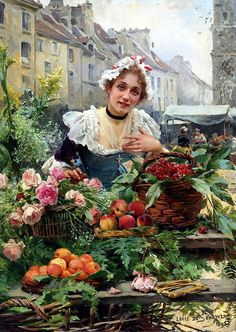 Flower. French artist Louis Marie de Schryver (1862-1942). Discussion on LiveInternet - Russian Service Online Diaries