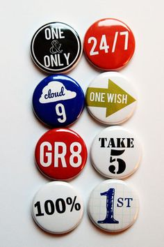 Number Phrases 1 Flair by aflairforbuttons on Etsy, $6.00 #flair #flairbuttons #aflairforbuttons