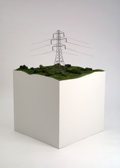 Pylon (1 of 300 sculptures forming Large Field Array) - Keith Tyson