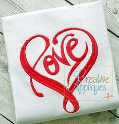 Love Heart - 4 Sizes! | What's New | Machine Embroidery Designs | SWAKembroidery.com Creative Appliques