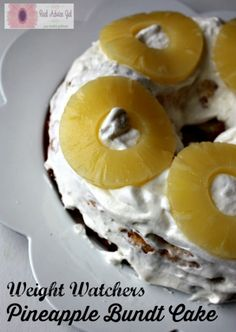 Weight Watchers Pineapple Bundt Cake Recipe. It's only 4 ingredients and 5 PlusPoints per piece!