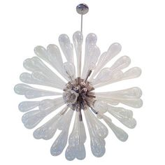 Large Murano Blown Glass Chandelier