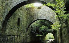 Paisajes naturaleza tiende un puente sobre España fondo de pantalla 1517x1105