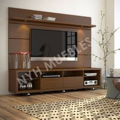 modular panel tv led lcd rack mueble moderno living nyh