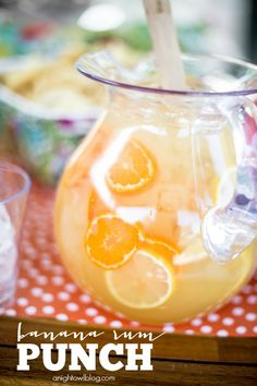 Banana Rum Punch - a delicious combination of fruity flavors that make for one delicious cocktail, perfect for entertaining!