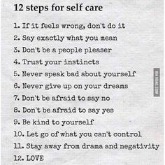 12 steps for self-care #9gag