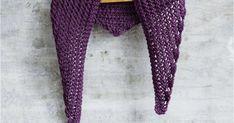 Suurilla puikoilla neulottu helppo hartiahuivi sopii aloittelevallekin neulojalle. Huivi neulotaan pitsimäisenä neuleena.