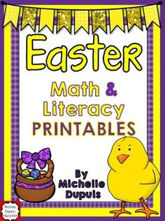 Easter - 20 Math and Literacy Printables. Print and Go!