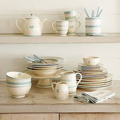 Polly's Pantry Tableware by John Lewis Happy Kitchen, New Kitchen, Kitchen Dining, Kitchen Ideas, Dining Room, Ceramic Tableware, Kitchenware, Corner China Cabinets, House Viewing