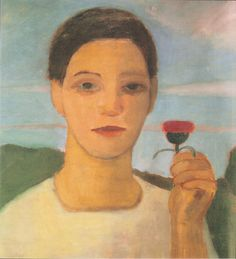 File:Modersohn-Becker - Bildnis der Schwester Herma mit Artischockenblüte in der erhobenen Hand.jpeg