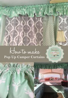 How to make pop up camper curtains for your camper or rv.