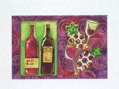 wine lover postcard   send it or frame