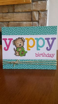 Can use cute little digital puppy I have in my stash for this cute card. Cricut ABCs, and birthday stamp completes this cute card. Kids Birthday Cards, Handmade Birthday Cards, Greeting Cards Handmade, Diy Birthday, Card Birthday, Sister Birthday, Birthday Images, Birthday Quotes, Homemade Birthday
