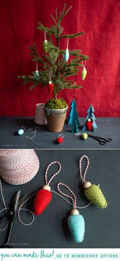 Do you have any favorite holiday ornaments? Today we're showing you how to make these festive felt bulb ornaments for your Christmas tree. Felt Crafts Diy, Fun Arts And Crafts, Christmas Projects, Holiday Crafts, Christmas Sewing, Felt Christmas, Christmas Time, Christmas Unicorn, Handmade Ornaments