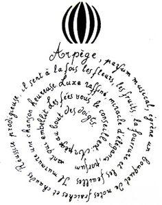 * Arpège calligramme de Louise de Vilmorin
