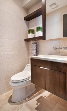 modern powder room wall faucet - Google Search
