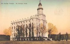 St George Utah Bird's Eye View St George Temple Hand Colored Antique PC Z9722 | eBay