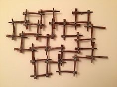 Photo of our Midcentury Flooring Nail Wall Hanging