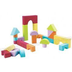Développez la  dextérité de Bébé  avec ces  blocs de mousse  de la marque  Ludi !        Ils sont idéaux pour les  jeux de construction  et peuvent également être utilisés dans le  bain !       Age : à partir de 12 mois  Couleur : Multicolore       Contient  30 blocs  de...