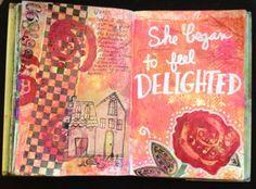 Art Journal page by Yolanda