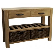 Double Basket Console Table - Goodrich
