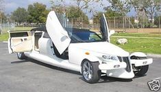 Chrysler Prowler Limousine  Custom 2002 Chrysler Prowler limo features 17-inch monitor with DVD/CD player, a 33000 Watt sound system and color changing lights.