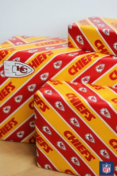 There's a gift for every Chiefs fan! Top it off with wrapping paper, a bow and you're good to go.