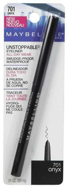 Maybelline Unstoppable Eyeliner, Amazing, long lasting, non-smudge and waterproof. My go to eyeliner!