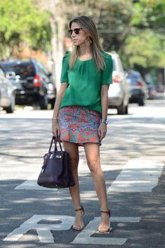 Printed Skirt - Nati Vozza