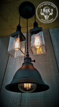 Industrial Whiskey and Shaded Pendant Lighting