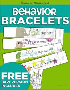 Behavior Bracelets from KindergartenWorks on TeachersNotebook.com (14 pages)